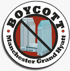 Boycott Manchester Grand Hyatt