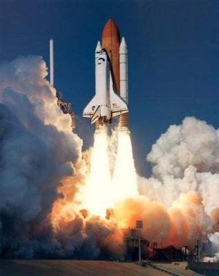 rocket launch in firey take off