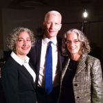 Lainey Feingold, Linda Dardarian and Anderson Cooper