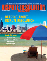 dispute resolution magazine cover