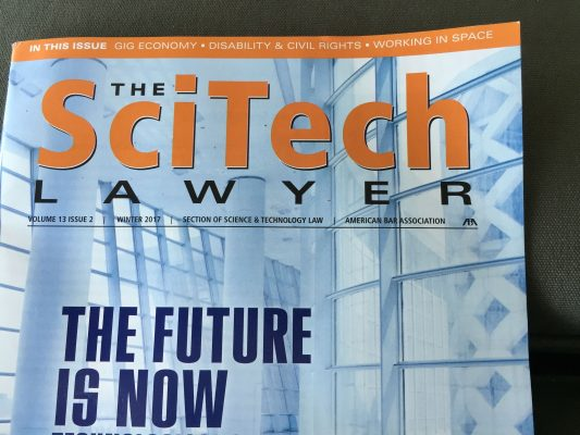 cover of SciTech Lawyer Magazine