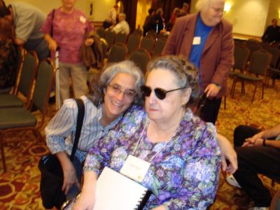 Lainey and Cathy Skivers at a CCB convention, possibly 2006