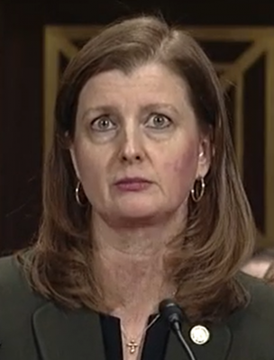 image of Elizabeth Branch, a white woman with brown hair looking annoyed.